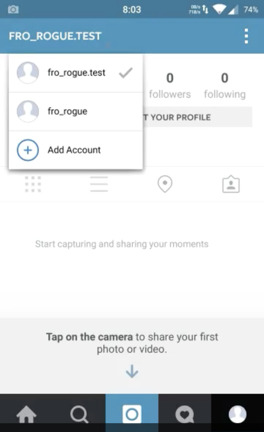 how to open a new instagram account
