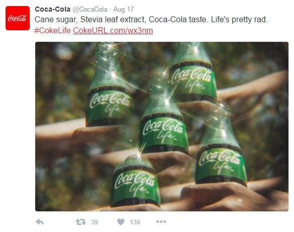coca-cola using custom shortened url