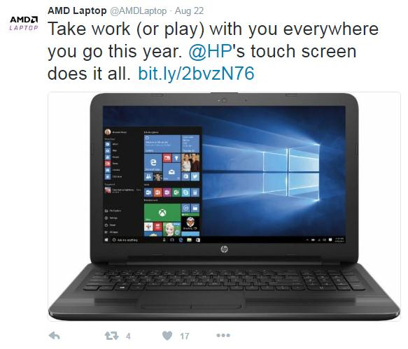 amdlaptop using custom shortened url