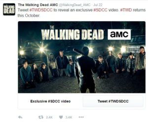 AMC using Twitter unlock card